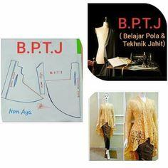 Dress Sewing Patterns, Clothing Patterns, Kebaya Peplum, Kebaya Brokat, Abaya Fashion, Pattern Fashion, Dress Making, My Design, Fashion Tips