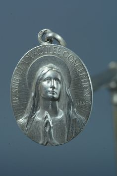 French Virgin Mary at Lourdes Vintage Sterling by CherishedSaints