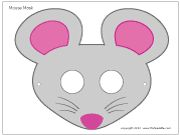 Mouse mask coloring page storytime crafts pinterest for Mouse mask template printable