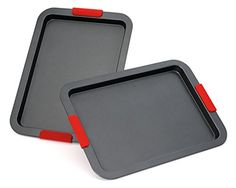 cool Elite Bakeware NonStick Baking Pans Set - Baking Sheets - Cookie Sheets - Sheet Pans Reviews