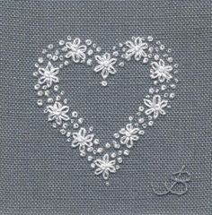 Thrilling Designing Your Own Cross Stitch Embroidery Patterns Ideas. Exhilarating Designing Your Own Cross Stitch Embroidery Patterns Ideas. Embroidery Hearts, Crewel Embroidery Kits, Learn Embroidery, Silk Ribbon Embroidery, Hand Embroidery Patterns, Vintage Embroidery, Cross Stitch Embroidery, Wedding Embroidery, Embroidery Thread