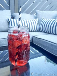 Cool summer drink on the patio.