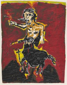 Hans-Peter Adamski (German, b. 1947), Ohne Titel (Centaur), 1983. Acrylic on…