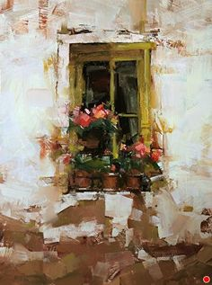 Yellow Flavor by Tibor Nagy Oil ~ 16 x 12