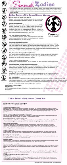 Sensual Cancer Woman/man