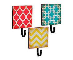 Conjunto de suportes para parede geometric colors