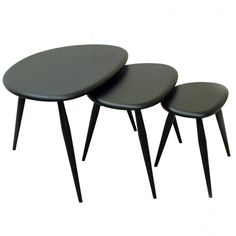 Save space with these stylish and functional nesting tables from Ercol. Perfect for a mid century modern look.