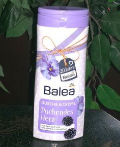 Balea Dusche & Creme Pochendes Herz mit dem Duft von Brombeeren und Veilchen. Balea Dusche & Creme Pochendes Herz: Dieses Produkt verspricht Reinigung und Pflege. Sie ennthält eine feuchtig...