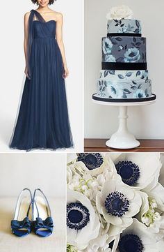 Hues You'll Heart: Bridesmaid Dress Edition - Navy Blue http://www.theperfectpalette.com/2014/07/hues-youll-heart-bridesmaid-dress.html
