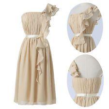2014 GK One Shoulder Knee-length Ruffles Chiffon Comfort Bridesmaid Party Dress Chiffon Shirt Dress, Chiffon Ruffle, Ruffles, Short Bridesmaid Dresses, Formal Dresses, Wedding Dresses, Party Dress, Dream Wedding, Prom
