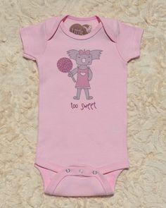 Organic Cotton Baby Clothing |Too Sweet| Baby Girl Bodysuit — Little Marsupials