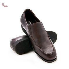 ZERIMAR Chaussures réhaussantes intérieur pour messieurs Augmentation +6,5 cm  Cuir cuir, respirant