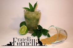 Homemade mojito, the famous Cuban cocktail made with white ‪#‎rum‬ and flavoured with fresh ‪#‎mint‬ and ‪#‎lime‬ - Fratelli ai Fornelli