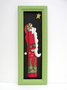 Santa Claus with Yellow NEW Star Hand or Tole Painted