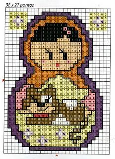 Little matryoshka patterns to make in cross stitch, needlepoint or with beads.... What's will I choose?