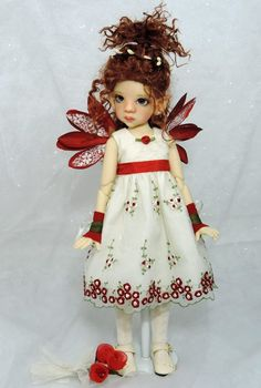 OOAK Custom Fair Skin Talyssa Elf MSD BJD by Kaye Wiggs...customized by Charlene Smith of Fireflies and Blossoms
