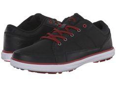Callaway - Del Mar Ballistic (Black/Black/Crimson) Men's Golf Shoes