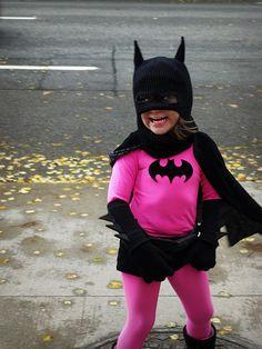 Pink batman costume