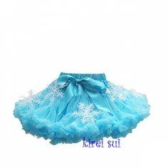 Prinses Elsa, Frozen, blauwe pettiskirt