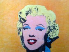 """ Marilyn""- Pop Art pastelli su carta"