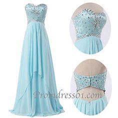 Sweetheart handmade long prom, graduation dress