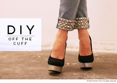 DIY: Studded Cuff Jeans – Redneck Couture