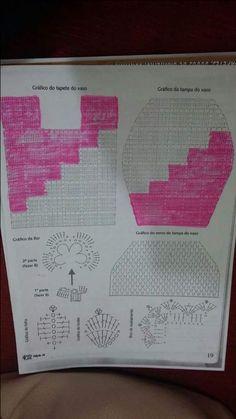 Edimara Comim: Two color bathroom set Crochet Rug Patterns, Weaving Patterns, Crochet Doilies, Crochet Diagram, Filet Crochet, Wc Set, Crochet Rabbit, Princess Coloring, Crochet Blouse