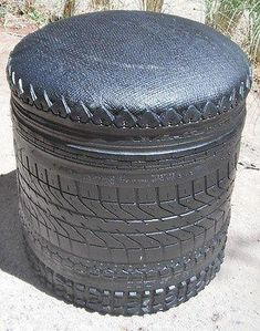 recycled rubber tyre stool from Morocco Tire Furniture, Furniture Showroom, Street Furniture, Cheap Furniture, Unique Furniture, Discount Furniture, Furniture Ideas, Automotive Furniture, Furniture Outlet