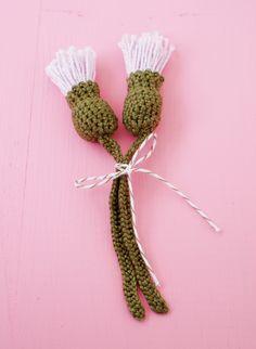 Messyla - Crochet Thistle Pattern. http://messyla.typepad.com/messyla-blog/2014/04/crochet-thistle-pattern.html