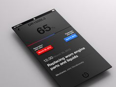 Matte / lustre finish iOS | Designer: Karol Ortyl