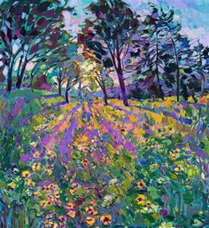 Dance of Wildflowers - Modern Impressionism | Contemporary Landscape Oil Paintings for Sale by Erin Hanson