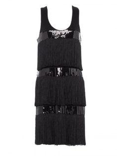 Charlie brown hemmingway-fringe dress#LBD