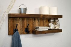Modern 2 Tier Shelf Bathroom Towel Rack 2 by RusticModernDecor