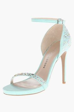 Super cute heels the shape is so flattering too mint tiffany blue sandal by chinese laundry junglespirit Gallery