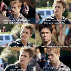 Love this scene for Stefan! Shows his 'badass' a little.