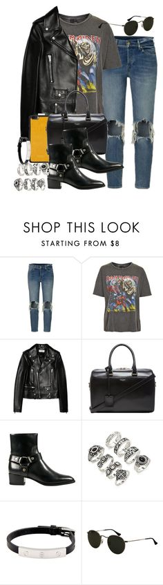 """""""Sin título #3696"""" by hellomissapple ❤ liked on Polyvore featuring And Finally, Yves Saint Laurent, Vianel, Forever 21 and Cartier"""