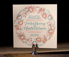 Letterpress Wedding Invitations | Chapin Design | Bella Figura Letterpress
