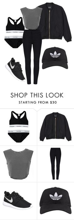 """""""Untitled #40"""" by vega-skouboe-lindberg on Polyvore featuring Calvin Klein, Monki, NIKE, adidas, women's clothing, women, female, woman, misses and juniors"""