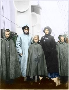 Nikolay II, Alix, and daughters in the yacht 'Shtandart' http://www.pinterest.com/lynnkwood/russia/