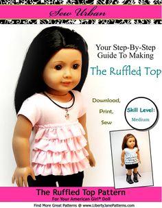 Sew Urban Pattern for American Girl Dolls