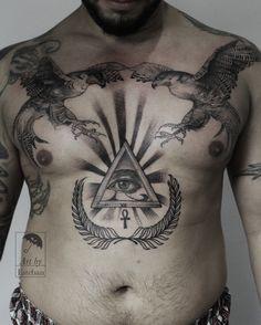 evil eye, third eye, eye, hawk, blackwork, abstract, abstract art, abstract tattoo, dot work, ink work, ink, inked, tattoo, tat, Greenpoint, Brooklyn, nyc