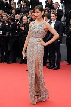 Freida Pinto  in Sanchita at the 'Young and Beautiful' premiere in Cannes 2013