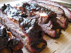 Memphis-style pork ribs (adapted from a Cooks Illustrated recipe)