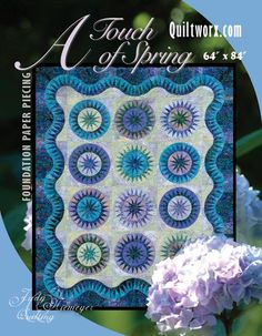 A Touch of Spring - Available from Quiltworx.com - A Judy Niemeyer Quilting Company. Shop for more patterns and quilting supplies on store.quiltworx.com