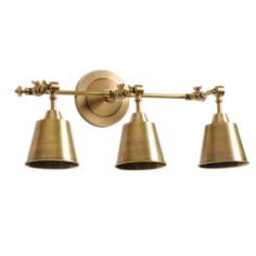 barbara cosgrove library three light antiqued brass wall sconce laylagrayce brass bathroom lighting fixtures