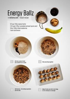 Energy Ballz: A tasty snack that will give you an energy boost and help you get through a tough workout.