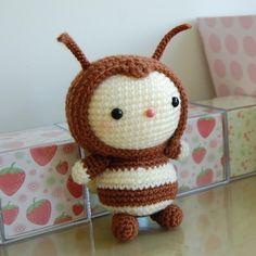 Adorable bee crochet pattern #amigurumi $4