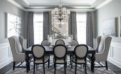 Monochromatic colors lend an elegant touch to your interiors. Image Via: Kristin Petro Interiors, Inc.