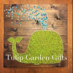 Whale String Art Whale Sequin String Art by TulipGardenGifts