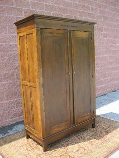 Antique Knock Down Wardrobe Cabinet McKim & Cochran ca 1900 9
